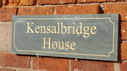 Honed Grey Sandstone House Sign (600mm x 200mm)